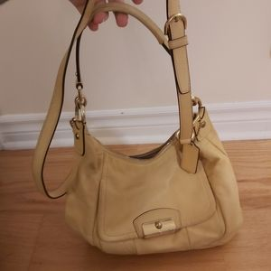 COACH Yellow/Gold Handbag